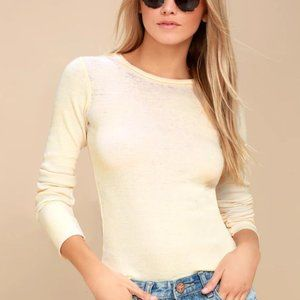 Nolder Cream Long Sleeve Top